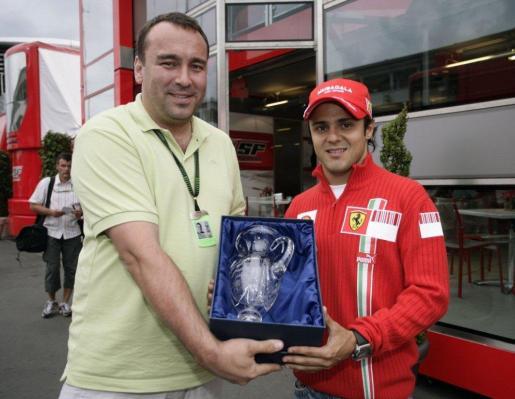 Petr Horák TV NOVA  Felipe Massa Scuderia Ferrari Marlboro